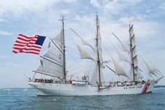 USCGC Eagle in New London for OpSail. US Coast Guard. Photo by Paul Duddy. #coastie #coastguard