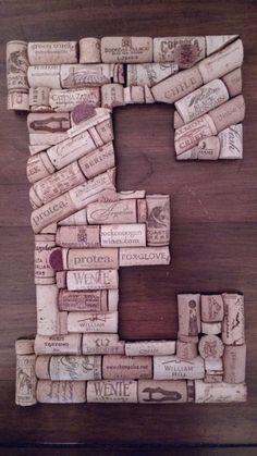 Letter E Custom 13 Handmade Wine Cork Letter by StudioMacOnline