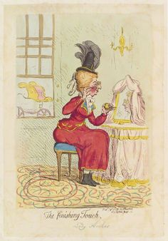 (nÈe West), Lady Archer ('The finishing touch') by James Gillray, published by  Hannah Humphrey
