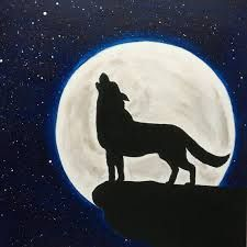 Image result for painted rocks wolf silhouette