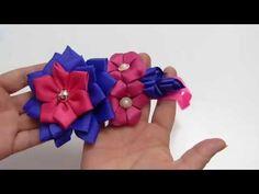 Tiara para Niñas flores varios tamaños, #520, clase virtual de lazos - YouTube