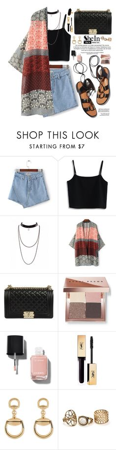 """Shein"" by oshint ❤ liked on Polyvore featuring Chicwish, Rosetta Getty, Bobbi Brown Cosmetics, Chanel, Gucci, Jaeger, Summer, amazing, beautiful and Sheinside"