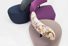 The piece was designed as a focal point for an interior before it became a chair. Furniture Design, Objects, Velvet, Texture, Detail, Chair, Women, Surface Finish, Stool