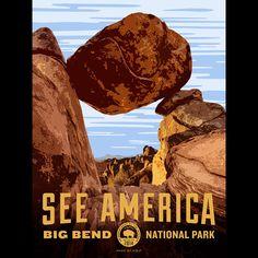 Balanced Rock, Big Bend National Park by Aaron Bates