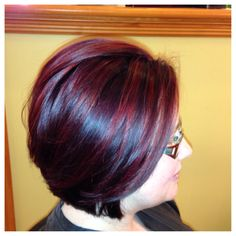dark red brown with bright scarlet red highlights i do