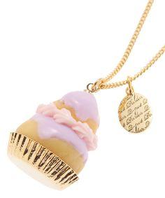 Q-pot Religieuse Necklace (Lavender) B704 0420 from JAPAN