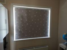 Made to measure blackout out roller blind for children's bedroom Mini Blinds, Blinds For Windows, Childrens Blinds, Blinds Inspiration, Made To Measure Blinds, Bedroom Blinds, Blackout Blinds, Dark Star, Roller Blinds