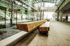 James A. Richardson International Airport 2011 -  Winnipeg, MB Canada    Manitoba Oak Public Benches