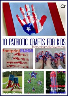 10 Patriotic Crafts For Kids - 10 fun craft projects that you can do with your children to celebrate the of July and other patriotic holidays. - Crafting For The Holiday Patriotic Crafts, July Crafts, Summer Crafts, Holiday Crafts, Holiday Fun, Holiday Ideas, 4th Of July Party, Fourth Of July, Craft Activities For Kids