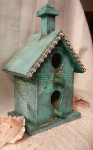 bird house from: WoodinVintage Cool Bird Houses, Decorative Bird Houses, Fairy Houses, Bird House Feeder, Bird House Plans, Bird Boxes, Nesting Boxes, Little Houses, Bird Feathers