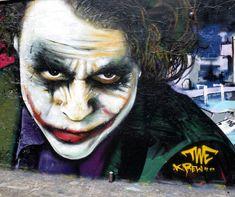 A Street Art Tribute - Heath Ledger as Joker