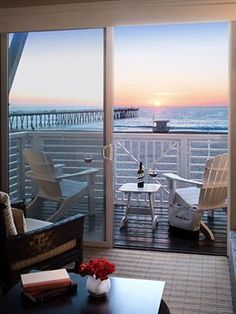 I would take a drink on that deck...!Hotel Suites at Beach House Hotel in Hermosa Beach, CA