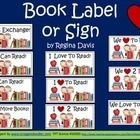 $ - This is a simple label/poster I made for my classroom Book Exchange.  I decided to share it with all of you with several word options for the same ...