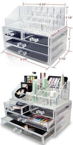 Makeup Storage diy craft storage crafts diy crafts do it yourself diy projects organization organization ideas organization and storage