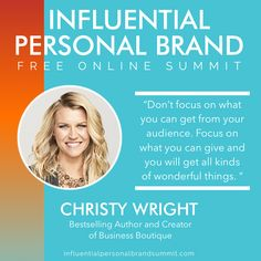 """Brandbuildersgroup presents: Day Sixteen of our Influential Personal Brand Free Online Summit! It's a BONUS day and part one is with the innovative Christy Wright!  Christy Wright is the #1 national best-selling author of Business Boutique, host of the Business Boutique Podcast.  """"The most amazing career opportunities are finding PROBLEMS for other people that you can SOLVE"""". - Christy Wright Miss Nevada, Building A Personal Brand, Brand Strategist, Keynote Speakers, Career Opportunities, Instagram Influencer, See On Tv, Wonderful Things, Personal Branding"""