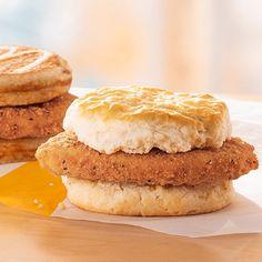 Chicken Breakfast, Breakfast Wraps, Breakfast Menu, Breakfast Items, Mcdonalds Chicken, Grilled Ham And Cheese, Chicken Items, Mcdonalds Breakfast