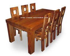 Kursi Meja Makan Kayu Solid Kursi Meja Makan Kayu Solid 6 Seater
