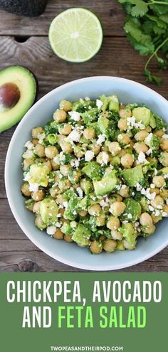 Craving for healthy vegetarian recipes but your in a rush try this chickpea avocado feta salad! it is super duper easy! probably the easiest and tastiest salad ive ever made you only need 5 minutes to make this healthy salad! Feta Salat, Vegetarian Recipes Dinner, Healthy Snacks Vegetarian, Healthy Recipes With Avocado, Recipes For Vegetarians, Quick Healthy Lunch, Salad Recipes For Dinner, Supper Recipes, Healthy Organic Recipes