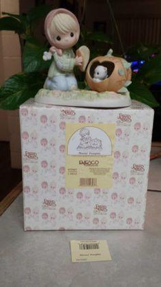"PRECIOUS MOMENTS ""MORNIN' PUMPKIN"" 455687 GIRL FINDS KITTY INSIDE A PUMPKIN/NEW in Collectibles, Decorative Collectibles, Decorative Collectible Brands, Precious Moments, Figurines, Other Precious Moments Figures | eBay"