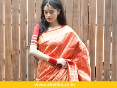 Shatika online handloom sarees store offering the wide collection of wide collection wedding sarees online at affordable price. Here you can find famous sarees from India for wedding like kanchipuram silk sarees, dharmavaram silk sarees, gadwal silk sarees, paithani silk sarees and much more.