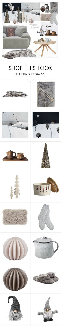"""""""Hygge Holidays"""" by snowbell ❤ liked on Polyvore featuring interior, interiors, interior design, home, home decor, interior decorating, Broste Copenhagen, Mint Velvet and UGG"""
