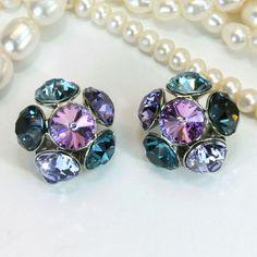 Multicoloured clip on earrings!  Available as drop earrings as well!