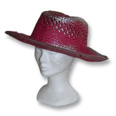 chapeau paille rose - Vannerie Sana