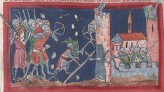 Soldat mit Armbrust, WLB HB XIII 6 Weltchronik & Marienleben, fol. 140r, 1300-1350, Lower.