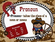 Parts of Speech Posters.  Western/Cowboy Themed.  Cute and perfect for a western themed classroom!  $