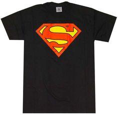 Superman Logo Black T-Shirt