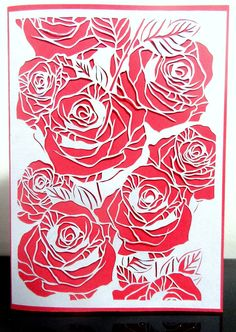 Papercut Rose LOve Like . Share . Order custom paper-cuts by My Paper CLoud @ https://www.facebook.com/MyPaperCloud