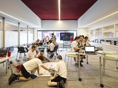 Image 27 of 42 from gallery of St Andrew's Anglican College Learning Hub / Wilson Architects. Photograph by Christopher Frederick Jones Learning Spaces, Learning Environments, Workshop Studio, Dream School, Classroom Walls, Outdoor Learning, St Andrews, International School, Too Cool For School