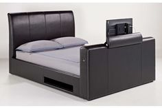http://www.bonsoni.com/manchester-electric-lift-tv-bed-brown-superking-by-lloyd-phillip-delric  Avoid any DIY disasters and say goodbye to mounting your TV to the wall.    http://www.bonsoni.com/manchester-electric-lift-tv-bed-brown-superking-by-lloyd-phillip-delric