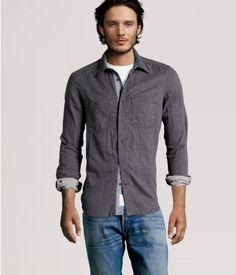 h&m; men gray shirt  http://www.hm.com/us/product/95601?article=95601-B