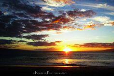Maui Hawaiian Sunset  Contemporary Island by foreverphoto on Etsy, $15.00