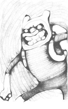 Una versión de Fynn personaje de una serie animada muy divertida