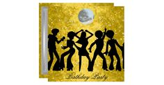 Disco Retro Birthday Party  Invitation 70s, music, disco, disco ball, disco birthday party, retro, birthday, party, night, fun, gatherings, dance, ball, popular, modern, bachelorette, club, opening, all, parties, business, save, date, 50th, 18th, 21st, 30th, 40th, 60th, black, red, corporate, sweet