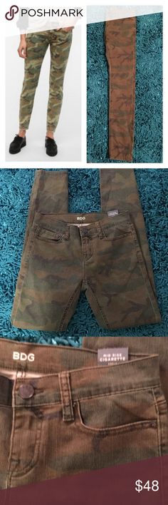 Offers Welcome Urban Outfitters BDG Camo Cigarette Midi Jeans - 26x 30 mid rise jeans - Slim fit New BDG Jeans Skinny