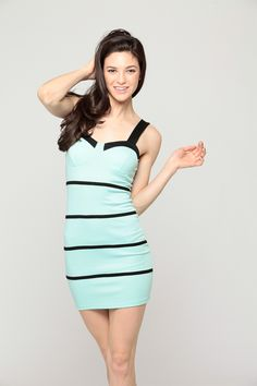 "Show off your figure in our ""Mint Striped Bodycon Dress"". Order yours today, visit www.cicihot.com for more ways to be hot!  #bodycon #mint #cute #fashion #fashionista #womensfashion #worldoffashion #shop #shopaholics #design #cute #trendy #style #stylish #spring #summer #nightout #behot #cicihot"