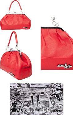 Bettie Page Teaserama Purse in RED by Sourpuss....WANT!