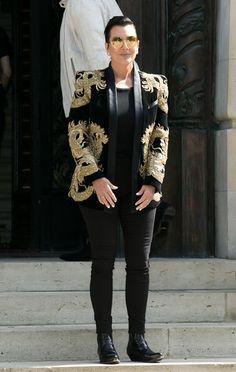 32a7fbc23532f Kris Jenner Vs. Justin Bieber Vs. Kylie Jenner  Who Wore This Balmain Jacket  Best  Balmain BlazerBalmain JacketStar FashionWomens FashionCity ChicJustin  ...
