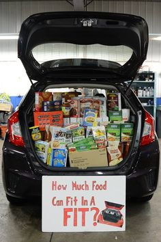 How much food will fit in a FIT? We just found out because the Fit is FULL!!! Thank you to everyone that made this year's food drive a great success! We appreciate all of your donations and are excited to send them to the Unity House food pantry!