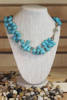Tropica Necklace: turquoise necklace Mother of the bride by BVSJ