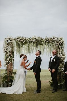 Stylish Bali Wedding With A Fun Party Vibe With Bride In Lazaro And A Festoon Light Outdoor Reception With Images By James Frost Photography Wedding Ceremony Ideas, Wedding Altars, Bali Wedding, Garden Wedding, Destination Wedding, Wedding Ceremonies, Wedding Receptions, Reception Ideas, Diy Wedding