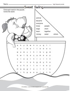 This word search focuses on high-frequency words! 2nd Grade Classroom, Classroom Ideas, Literacy Worksheets, Early Reading, High Frequency Words, Learning Tools, Sight Words, Word Work, Summer Activities