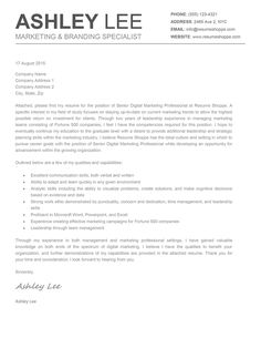 Resume Example, Resume Cover Letter Examples New Update ~ Resume ...