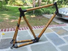 Build a Bamboo Bicycle (And Light It Up!) : 17 Steps (with Pictures) - Instructables Bamboo Bicycle, Wooden Bicycle, Wood Bike, Coaster, Build A Bike, Bicycle Workout, Bike Frame, Bike Design, Carbon Fiber