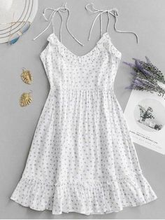 Ruffle Tie Printed Cami Dress – GaGodeal Sun sun dresses plus size sun dresses with sleeves sundress outfits sundresses dresses sundresses for weddings dresses sundresses Wedding Invitations Trends 2019 White Dress Summer, Casual Summer Dresses, Sexy Dresses, Cute Dresses, Short Dresses, Elegant Dresses, Summer Sundresses, Floral Dresses, White Dress Casual