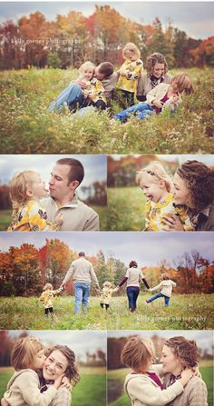 Family, Kids, Fall, Outside, Poses