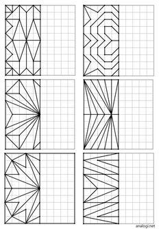 Math For Kids, Fun Math, Maths, Geometric Drawing, Geometric Art, Graph Paper Art, Mandala Art Lesson, Classroom Art Projects, Learning Websites